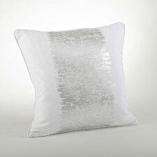 Agatha Metallic Banded Cotton Throw Pillow