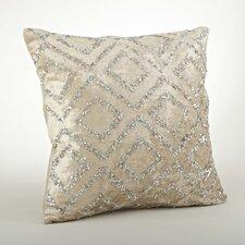 Glittery Velvet Sequined Cotton Throw Pillow