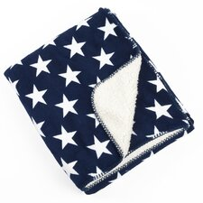 Star Sherpa Baby Blanket