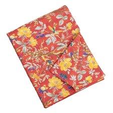 Printed Kantha Stitches Cotton Throw