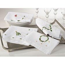 Christmas Hemstitched Holiday Napkin (Set of 4)