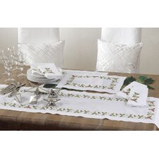Holiday Holly Embroidered Napkin (Set of 4)