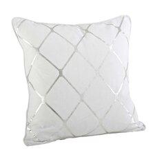 Greta Metallic Diamond Cotton Throw Pillow