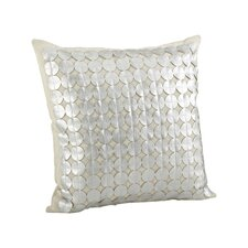 Amalia Circle Cutwork Cotton Throw Pillow
