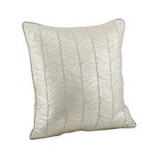 Calista Metallic Herringbone Cotton Throw Pillow