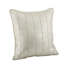 Calista Metallic Herringbone Cotton Throw Pillow