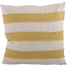 Cap Ferrat Banded Cotton Throw Pillow