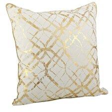 Lustrous Metallic Foil Print Cotton Throw Pillow