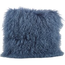 Mongolian Lamb Fur Wool Throw Pillow