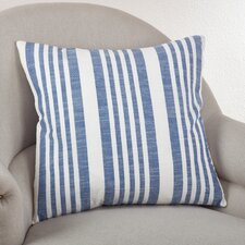 Nautical Striped Cotton Throw Pillow