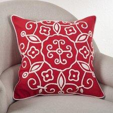 Embroidered Suzani Cotton Throw Pillow