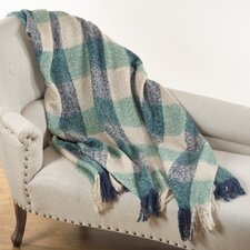 Mohair Checkered Throw Blanket