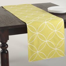 Leonora Stitched Tile Design Table Runner