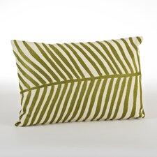 Spring Embroidered Palm Design Cotton Lumbar Pillow