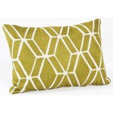 Spring Embroidered Fretwork Design Cotton Lumbar Pillow