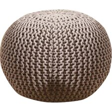 Cotton Twisted Rope Pouf Ottoman