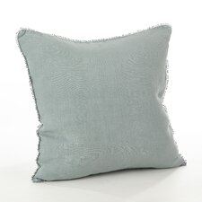 Pomponin Linen Throw Pillow