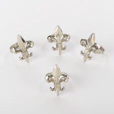 Fleur-de-Lis Napkin Ring (Set of 4)