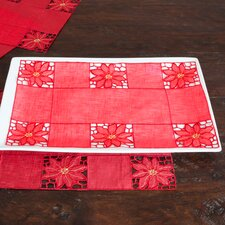 Embroidered and Cutwork Tray Cloth (Set of 12)