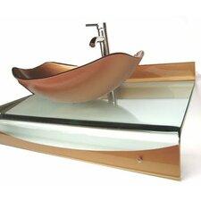"31"" Single Floating Bathroom Vessel Vanity Set"