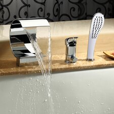 Single Handle Deck Mount Tub Faucet with Hand Shower