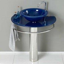 """30"""" Single Pedestal Bathroom Vanity Set"""