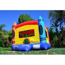 DuraLite Crayon Party Bounce House