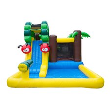 Caterpillar Mud Park Wet/Dry Combo Bounce House