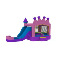 13' x 24' Princess Tiara Athletic Wet Dry Combo  Bounce House