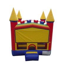 13'x13' Rainbow Cloud Bricks Castle Bounce House