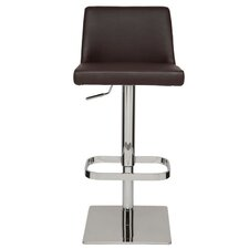 Rome Adjustable Height Swivel Bar Stool with Cushion