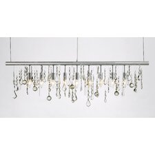 Crystal Linear 9 Light Kitchen Island Pendant