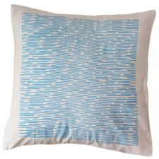 Cerulean Channels Cotton Throw Pillow