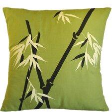 Bamboo Wilderness on Moss Cotton Throw Pillow