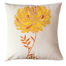 Solar Dahlia Cotton Throw Pillow