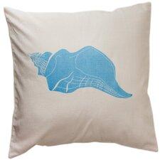 Laguna Beach Conch Cotton Throw Pillow