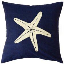 Jersey Coastline Starfish Cotton Throw Pillow