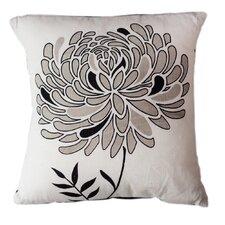 Lunar Dahlia Cotton Throw Pillow