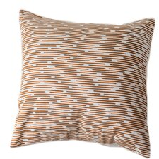 Burnt Channels Cotton Throw Pillow