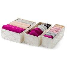 3 Piece Collapsible Fabric Drawer Organizer Set