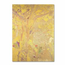 """""""Yellow Tree 1900"""" by Odilon Redon Painting Print on Wrapped Canvas"""