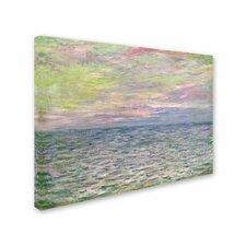 'Coucher de Soleil a Pourville' by Claude Monet Painting Print on Canvas