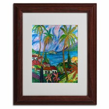 """""""Tropical Paradise"""" by Manor Shadian Framed Painting Print"""