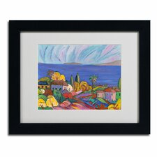 """""""Kihei Shore"""" by Manor Shadian Framed Painting Print"""