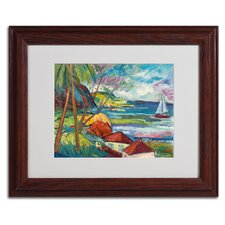"""""""Hanna Bay 2"""" by Manor Shadian Matted Framed Painting Print"""