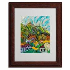"""Maui Peaks"" by Manor Shadian Framed Painting Print"