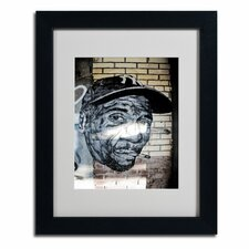 """""""Hiphop Yankee Fan Pop Art"""" by Yale Gurney Matted Framed Photographic Print"""