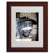 """Hiphop Yankee Fan Pop Art"" by Yale Gurney Framed Painting Print"