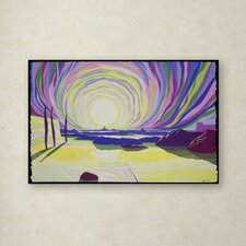 """Whirling Sunrise La Rocque"" by Derek Crow Painting Print on Wrapped Canvas"