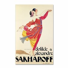 """""""Clotilde and Alexandre Sakharoff"""" by George Barbier Vintage Advertisement on Wrapped Canvas"""